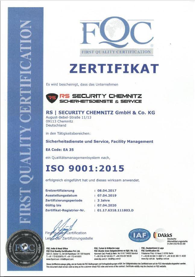 Rs Security Chemnitz Sicherheitsdienste Service
